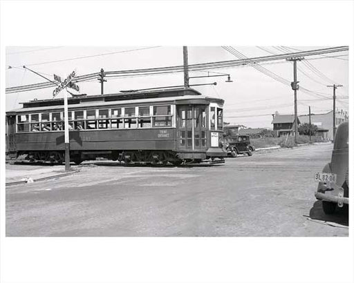 Avenue L Canarsie Trolley 1941 - Brooklyn NY Old Vintage Photos and Images