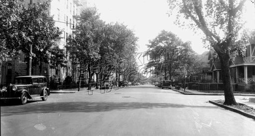 Avenue R looking east to East 12th Street, 1940 Old Vintage Photos and Images