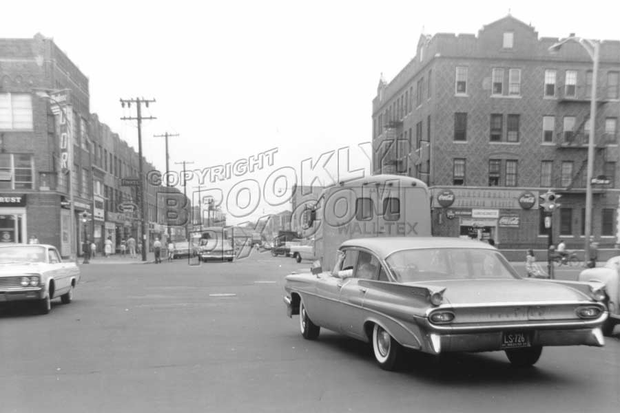 Avenue U looking west at Ocean Avenue, 1964 Old Vintage Photos and Images