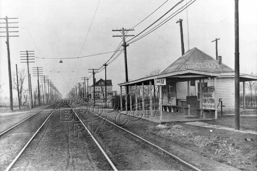 Avenue U station on the Brighton Line looking north, 1901 Old Vintage Photos and Images