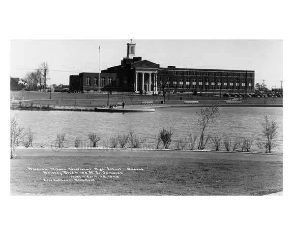 Baisley Pond Woodrow Wilson HS South Jamaica 1942  - Queens NY Old Vintage Photos and Images