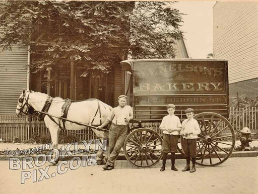 Bakery Wagon of N.V. Nelson, 21-23 Bergen Street c.1910 Old Vintage Photos and Images
