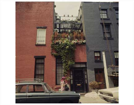 Balcony Garden Greenwich Village Old Vintage Photos and Images