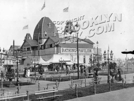 Balmer's Bathing Pavilion, West Brighton, c.1890s Old Vintage Photos and Images