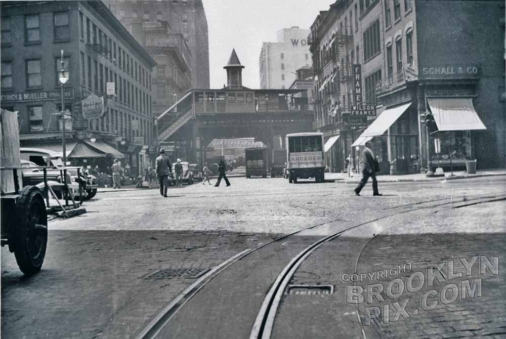 Barclay Street looking west to West Broadway, 1936 Old Vintage Photos and Images