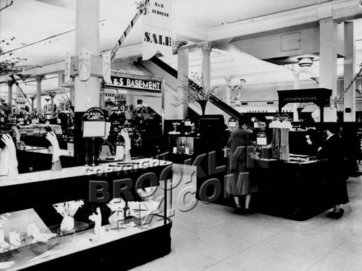 Basement of Abraham & Straus department store, 1940 Old Vintage Photos and Images