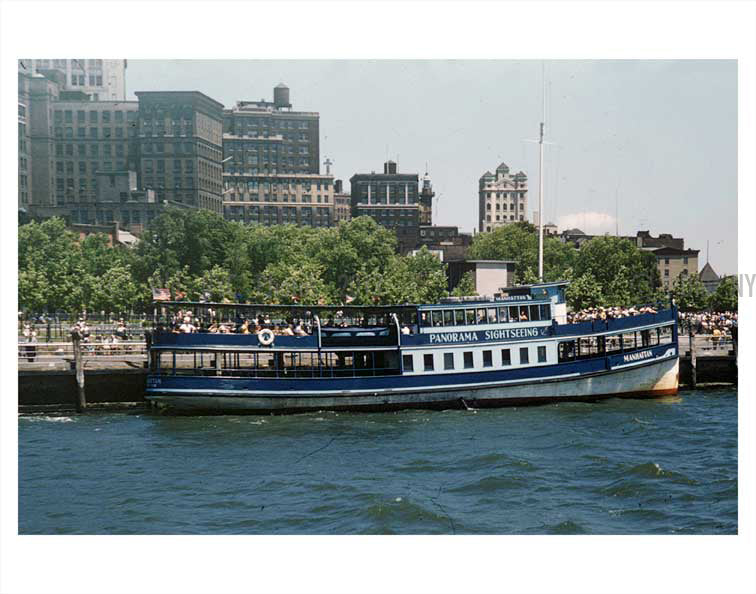 Battery Park sightseeing Boat Old Vintage Photos and Images