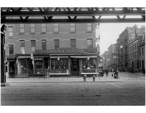 """Bauer & Doctor"" Bowery - east side - Stanton  Street 1915 Old Vintage Photos and Images"
