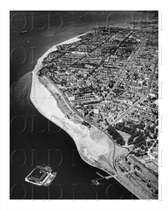 Bay Ridge Aerial Shot Brooklyn, NYC Old Vintage Photos and Images