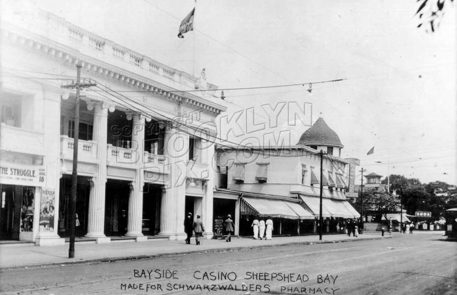 Bayside Casino, Emmons Avenue at Ocean Avenue, where Lundy's is now, 1914 Old Vintage Photos and Images