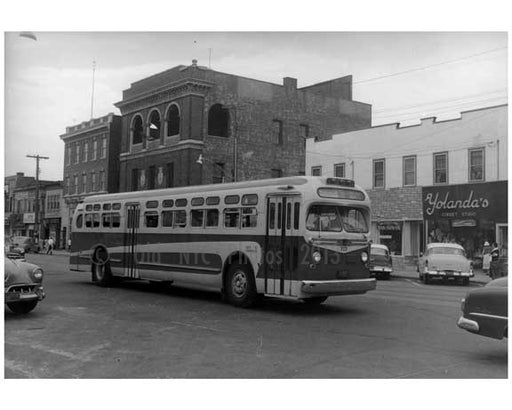 Beach Street 116 th Street Rockaway Park Bus NYC 1957 - Rockaway Queens NY Old Vintage Photos and Images