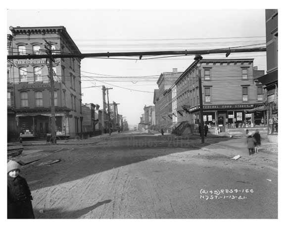 Bedford Ave - Williamsburg - Brooklyn, NY  1918 A Old Vintage Photos and Images