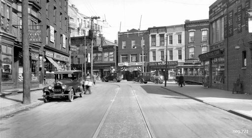 Bedford Avenue looking east to Manhattan Avenue, 1928 Old Vintage Photos and Images