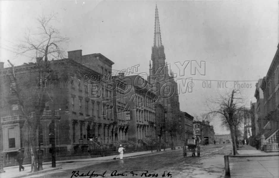 Bedford Avenue northwest to Ross Street, 1908 Old Vintage Photos and Images