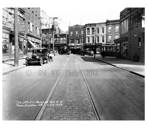 Bedford & Manhattan Ave 1928 Old Vintage Photos and Images
