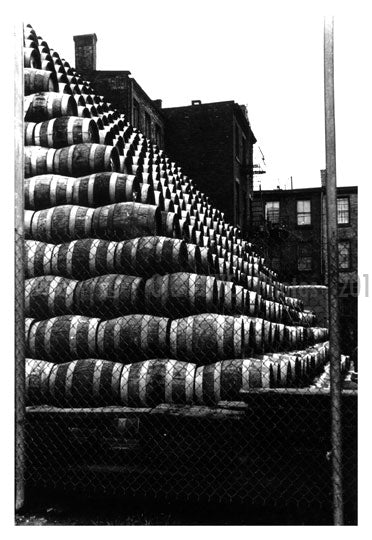 Beer Keg mountain 1950's Greenpoint Brooklyn NY Old Vintage Photos and Images