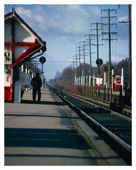 Bellmore LIRR Train Station 1963 - Long Island NY Old Vintage Photos and Images