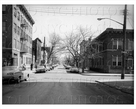 Belmont Avenue east facing Millen Avenue East New York 1965 Old Vintage Photos and Images