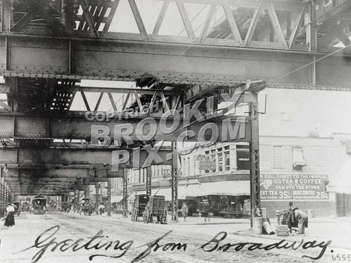 Beneath Broadway Brooklyn El at Eldert Street, prior to rebuilding, 1911 Old Vintage Photos and Images