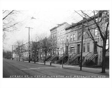 Bergen Street Crown Heights NY Old Vintage Photos and Images