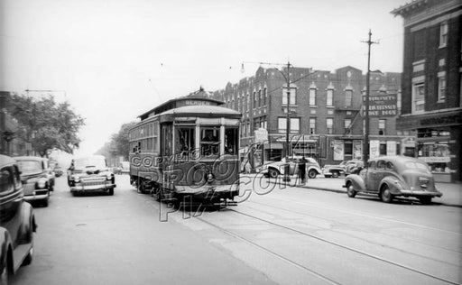 Bergen Street at New York Avenue, 1947 Old Vintage Photos and Images