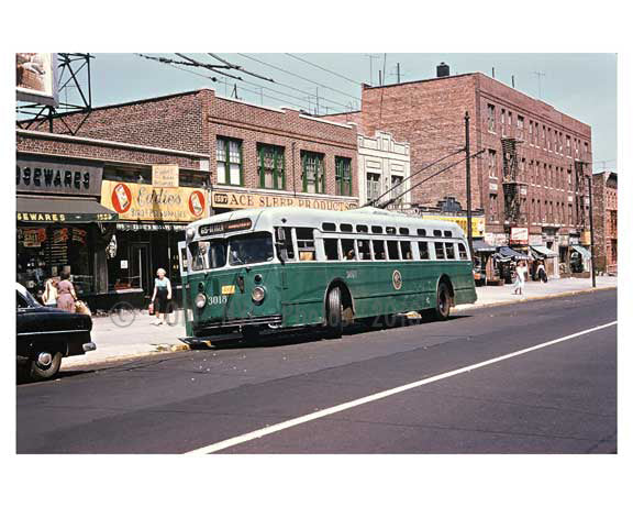 Bergen Street Bus - Crown Heights - Brooklyn, NY 1950s Old Vintage Photos and Images