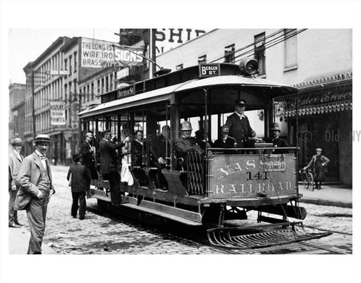 Bergen Street  trolley Brooklyn NY Old Vintage Photos and Images