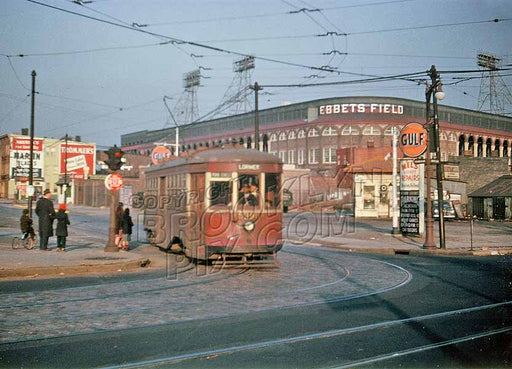 Best Ebbets Field color photo taken from Empire Boulevard and Franklin Avenue Old Vintage Photos and Images