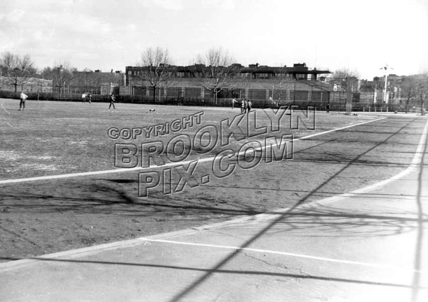 Betsy Head Playground looking east from Livonia Avenue and Douglass Street, 1952 Old Vintage Photos and Images