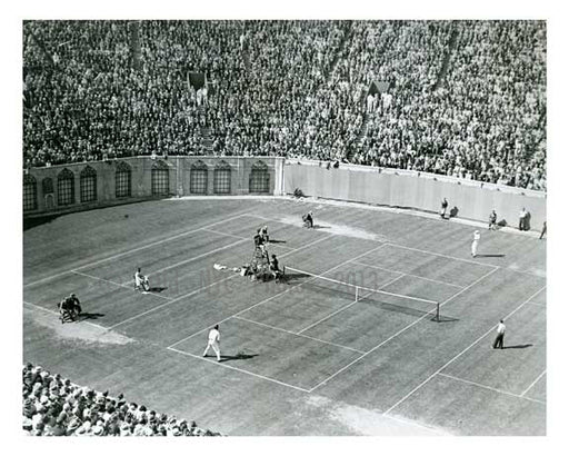 Bill Tilden v Costure at US Open - Forest Hills  - Queens - NYC Old Vintage Photos and Images