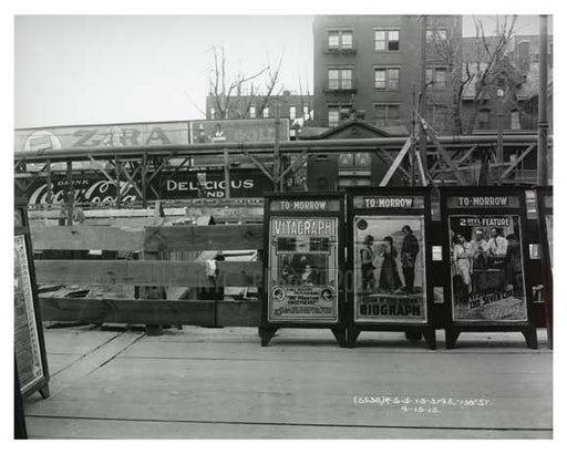 Billboards along 138th Street - South Bronx NYC 1914 Old Vintage Photos and Images