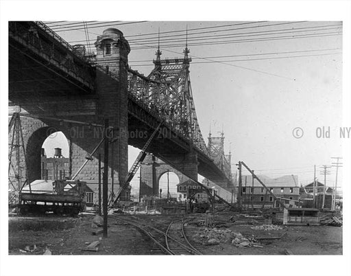 Blackwell Island  with Queensboro bridge in view Old Vintage Photos and Images