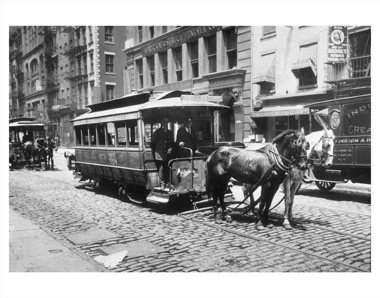 Bleecker Street & Broadway trolley Old Vintage Photos and Images