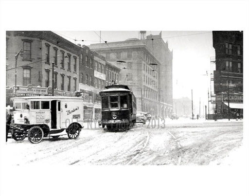 blizzard of 1957 Flatbush Brooklyn Old Vintage Photos and Images