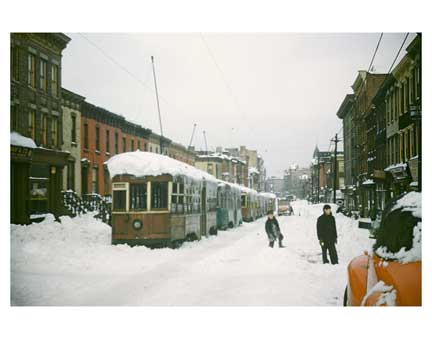 Blizzard with Trolleys Gravesend Brooklyn NY Old Vintage Photos and Images