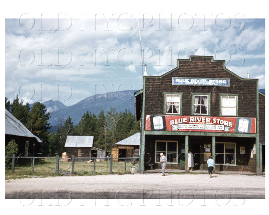 Blue River Store Canada 1956 Old Vintage Photos and Images