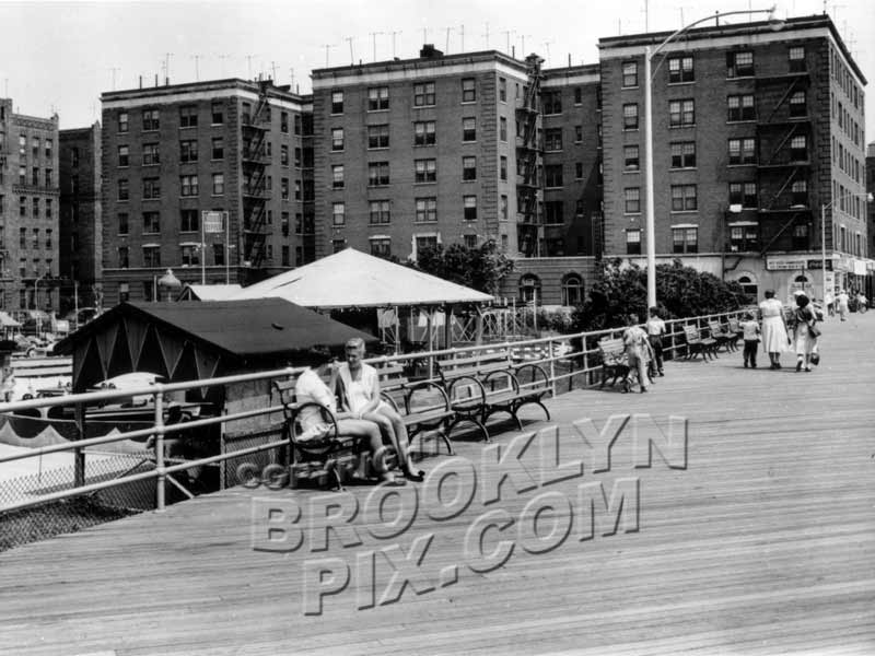 Boardwalk at Brighton Beach, 1950s Old Vintage Photos and Images