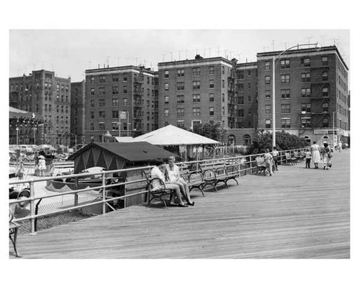 Boardwalk at Brighton Beach  Brooklyn NY 1956 Old Vintage Photos and Images