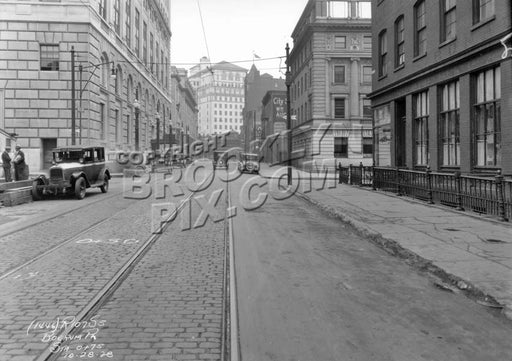 Boerum Place looking north to Livingston Street, 1928 Old Vintage Photos and Images