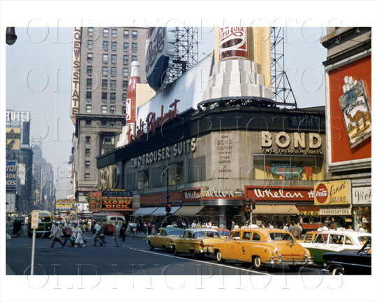 Bond Times Square Manhattan, NYC 1946 Old Vintage Photos and Images