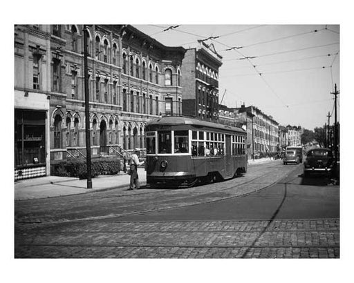 Borough Hall Trolley - Brooklyn NY circa 1930s Old Vintage Photos and Images