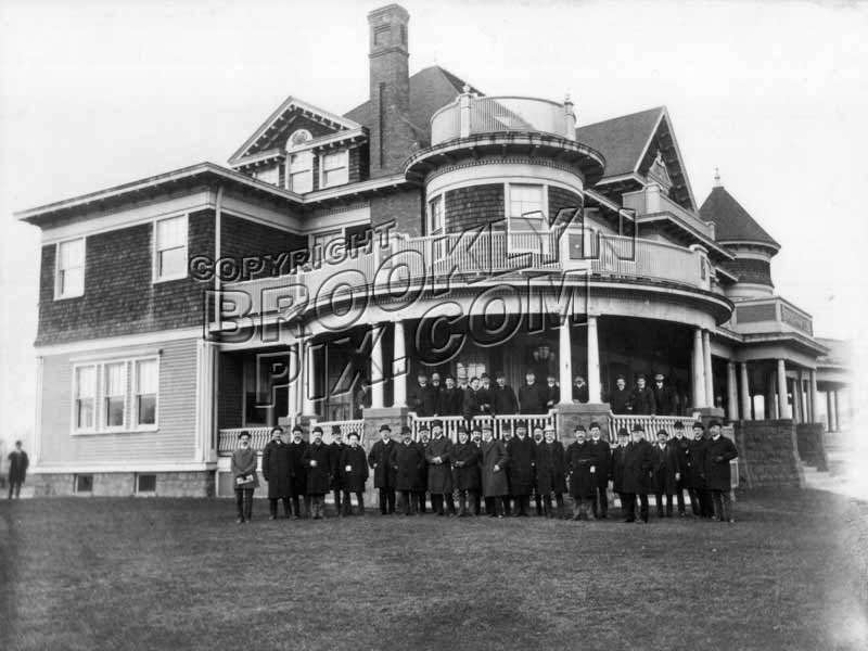 Borough Park Club, 13th Avenue between 50th and 51st Streets, 1900 Old Vintage Photos and Images