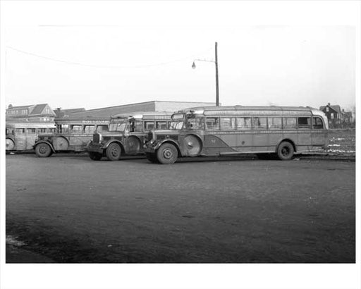 Boulevard Transit - Jersey City Bus 1948 NJ Old Vintage Photos and Images