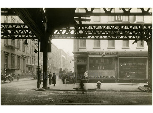 Bowery - at Broome Street 1915 Old Vintage Photos and Images