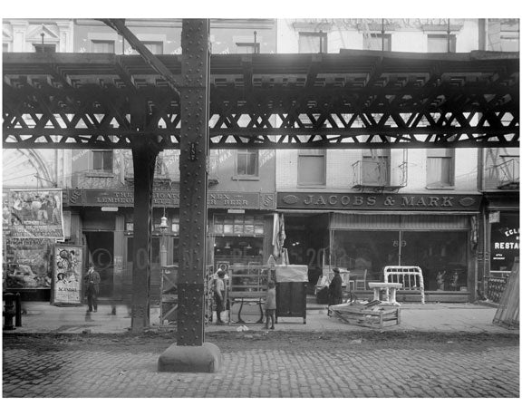 Bowery - between Hester & Canal Streets  1915 Old Vintage Photos and Images