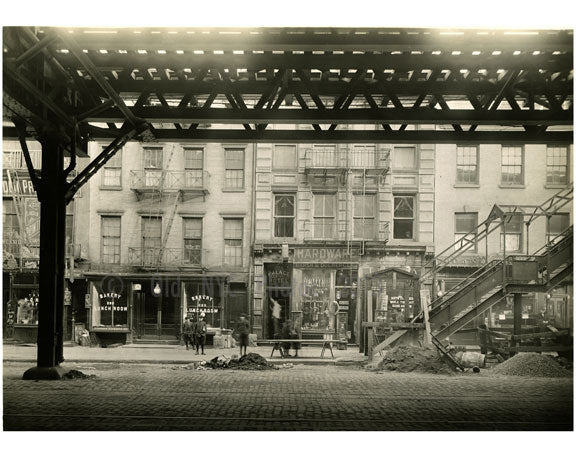 Bowery - between Houston & 1st Street 1915 Old Vintage Photos and Images
