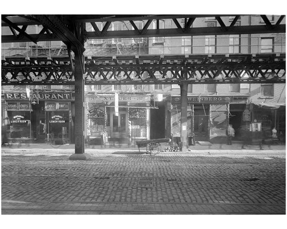 Bowery - between Houston & Stanton Street 1915 A