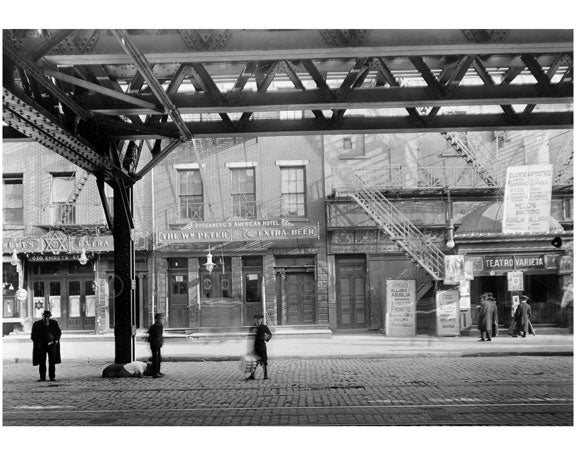 Bowery - between  Stanton & Rivingotn Street  1915 Old Vintage Photos and Images