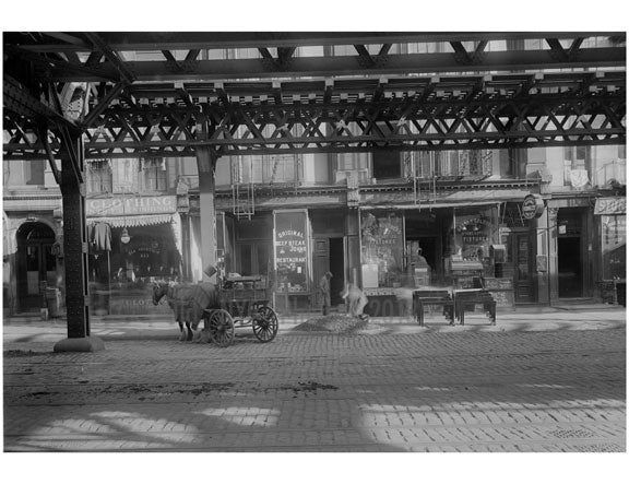 Bowery - between Stanton & Rivington Streets  1915 Old Vintage Photos and Images