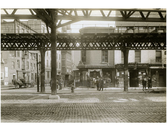 Bowery - east side at 1st Street 1915 Old Vintage Photos and Images
